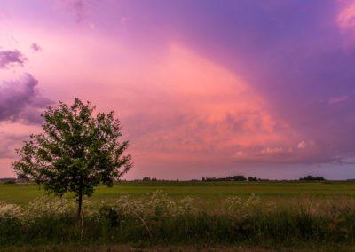 Gewitterwolken in Litauen