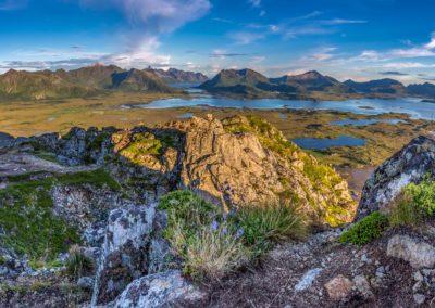 Panorama über die Lofoten