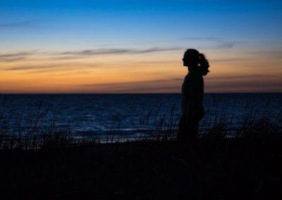 Blick in den schwedischen Sonnenuntergang